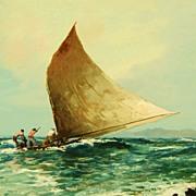 Vintage Watercolor -  Manzke: Jangada, Bahia