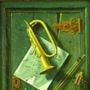 American Art - Mario Castro: Miniature Trompe-l'oeil, Vintage Painting