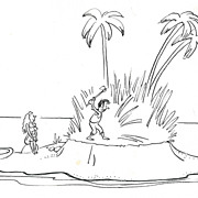 American Art - Desert Island - Six-Pic New-Yorker Cartoon Original Art by Claude