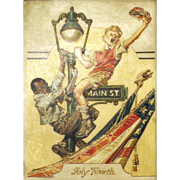 American Art - After J.C. Leyendecker: Vintage Illustration Oil on Board