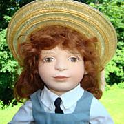 1993 Maggie Iacono Jillian Felt Girl Doll Limited Edition 77/200 Maggie Made