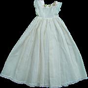 Madame Alexander Cissy Doll White Cotton Nightgown Pink Rosebud Trim C1957