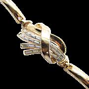 1949 Trifari Meteor Baguette Rhinestone Bracelet Alfred Philippe Signed