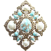 Sarah Coventry Pendant Brooch Pin Remembrance 1968 Vintage
