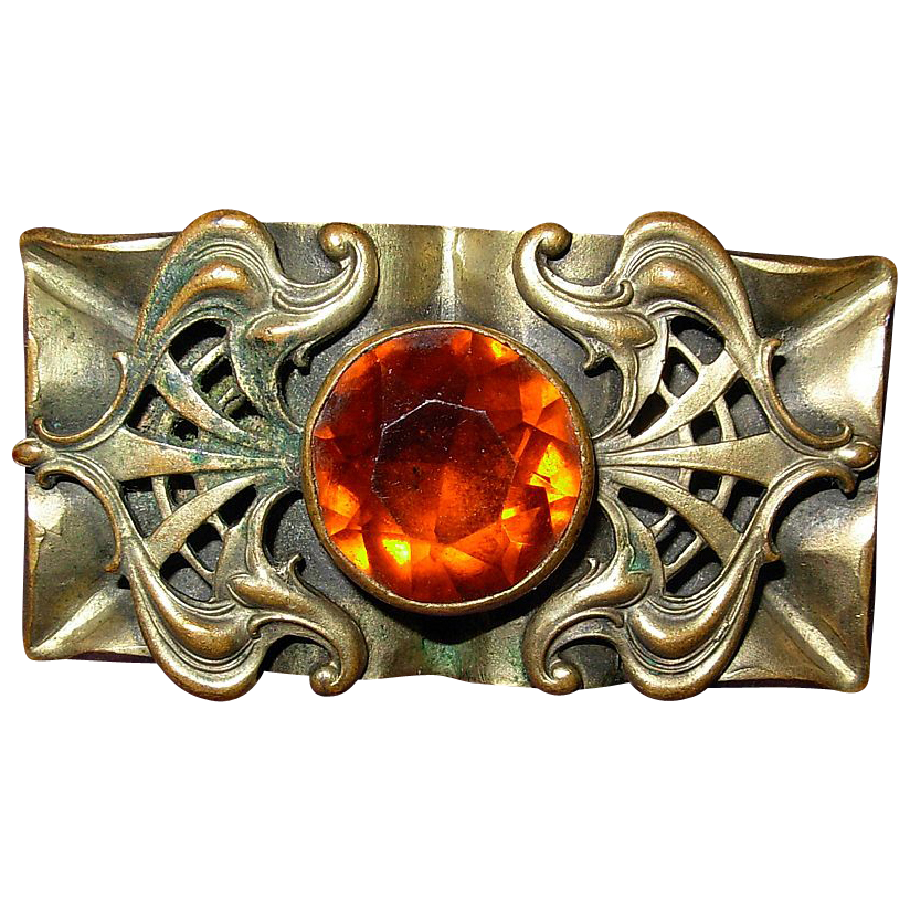 Antique Jeweled Brooch Pin