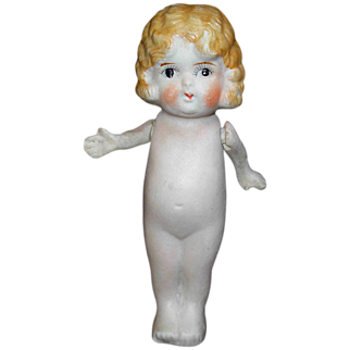 SALE Vintage Bisque Doll Figurine Moving Arms
