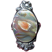 Vintage Abalone Sterling Silver Ring Size 5.5