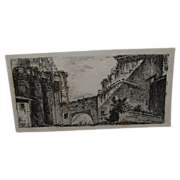 Antique Engraving by Giovanni Piranesi