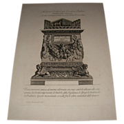 Antique Italian Engraving by Giovanni Piranesi