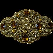 Lovely Old Vintage Czech Brooch Pin