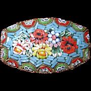 Vintage Italian Mosaic Floral Pin / Brooch