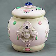 Shafer Vater Art Nouveau Porcelain Covered Jar