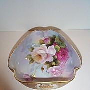 Hand Painted Triangular Noritake Bowl