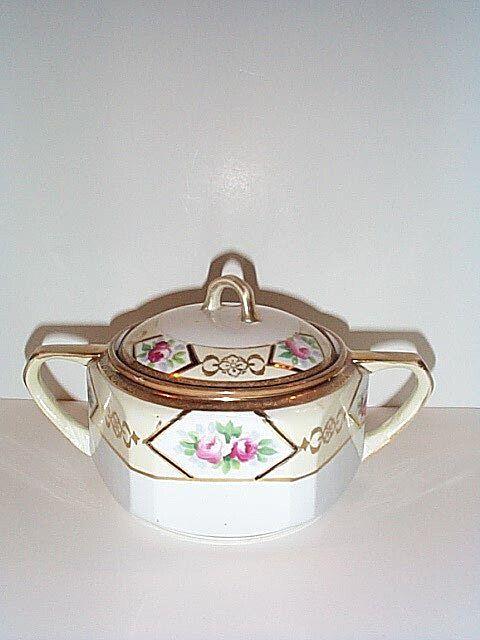 Hand Painted Noritake Sugar Bowl