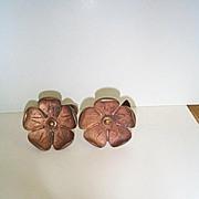 Vintage Cast Copper Drapery Tie Backs