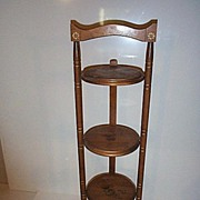 Decorative Folding Stand with Fruit Motif
