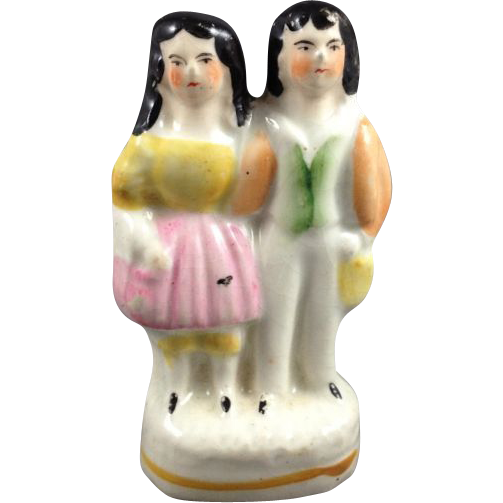 English Staffordshire Young Royals Figurine, 1880