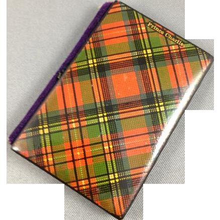 "Tartanware  Needle Case, Victorian, ""Prince Charles"""