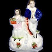 English Staffordshire Figurine Young Man & Lady, C.1850-1860