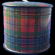 Tartan Ware Thread Holder, Victorian
