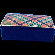 Tartan Plaid Lacquer Snuff Box, Victorian