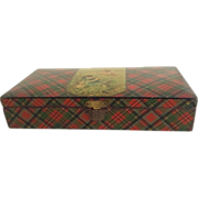 Victorian Tartanware /Mauchline-ware Keeping Box