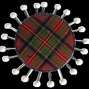 Tartan Ware 'Stuart' Sewing Pin Wheel