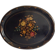 """29"""" English Hand-Painted Papier Mache Tray"""