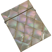 English Mother-of-Pearl Visiting Card Case, C.1850