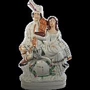 C.1860  English Staffordshire Figurine