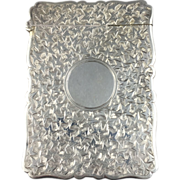 1886 English Sterling Silver Calling Card Case