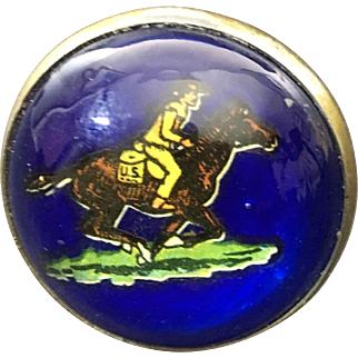 Horse Bridle Button U.S. Pony Express