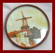 Vintage Tin Punched Coaster Set ~ Set of 12