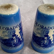 "Vintage ""Colorful Colorado"" Salt & Pepper Shaker Set"