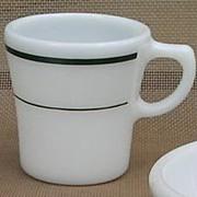 Corning Pyrex Green Band Mug