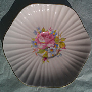 Foley China Floral # 3627 Scalloped  Saucer Orphan
