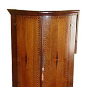 Antique Georgian Inlaid Corner Cabinet w Marquetry Star