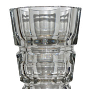 Unusual Antique Moser Art Deco Crystal Vase