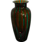 Unusual Signed Venetian Art Glass Vase Veart Venezia