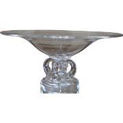 Signed Steuben Crystal Footed Centerpiece Bowl