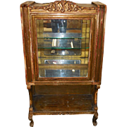 Unusual Antique 18th C Italian Gilt-wood Vitrine Cabinet
