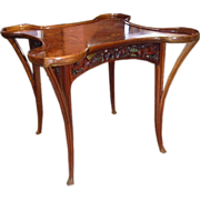 6815 Inlaid Art Nouveau Table c.1890