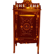 SALE 7268 American Aesthetic Movement Rosewood and Cherrywood Gilt Incised Cabinet