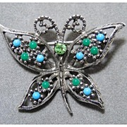 Pretty and Petite Sara Coventry Butterfly Pin Brooch