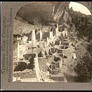 Mesa Verde Colorado - Keystone Stereo View