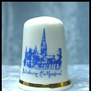Salisbury Cathedral Porcelain Thimble
