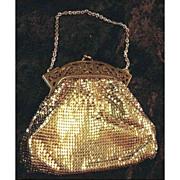 Whiting & Davis Vintage Gold Mesh Purse