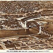 Pennsylvania Railroad Real Photo Post Card Hell Gate Bridge