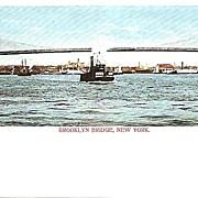 Vintage Brooklyn Bridge Post Card