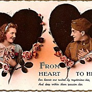World War I Postcard: Romantic Post Card